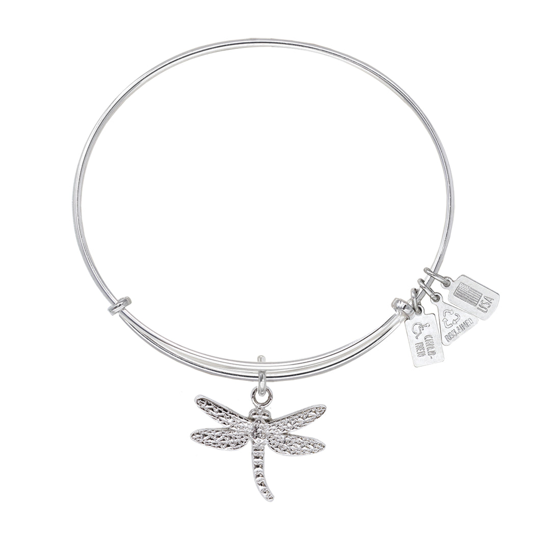 Wind & Fire Dragonfly Charm Bangle