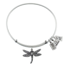 Load image into Gallery viewer, Wind & Fire Dragonfly Charm Bangle