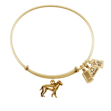 Wind & Fire Dog Charm Bangle