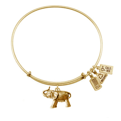 Wind & Fire Elephant Charm Bangle