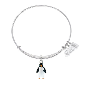 Wind & Fire Penguin Enameled Charm Bangle