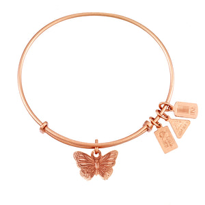 Wind & Fire Butterfly Charm Bangle