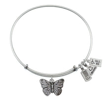 Load image into Gallery viewer, Wind & Fire Butterfly Charm Bangle