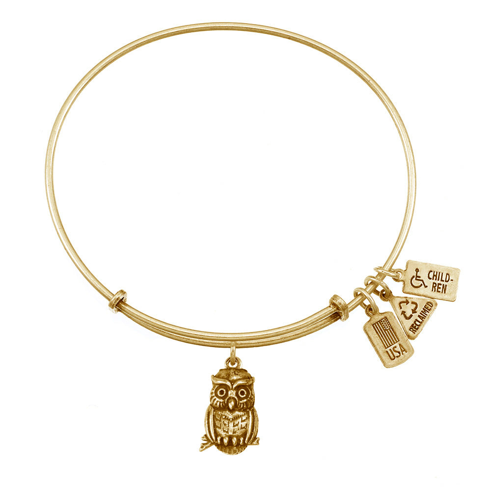 Wind & Fire Owl Charm Bangle