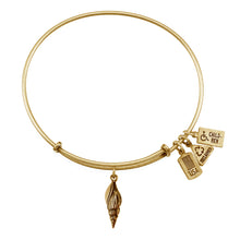 Load image into Gallery viewer, Wind & Fire Sea Shell Charm Bangle