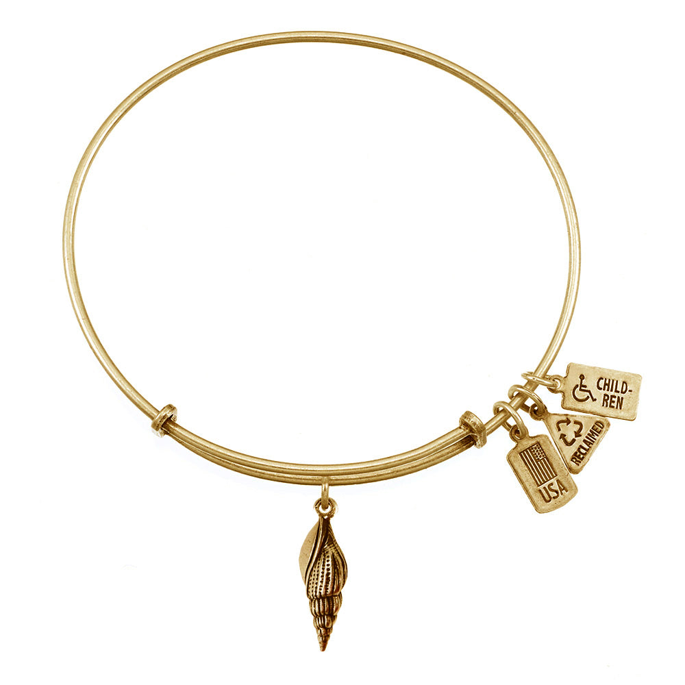 Wind & Fire Sea Shell Charm Bangle