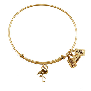 Wind & Fire Flamingo Charm Bangle