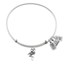 Load image into Gallery viewer, Wind & Fire Flamingo Charm Bangle