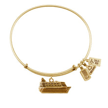 Load image into Gallery viewer, Wind & Fire Cruise Ship Charm Bangle