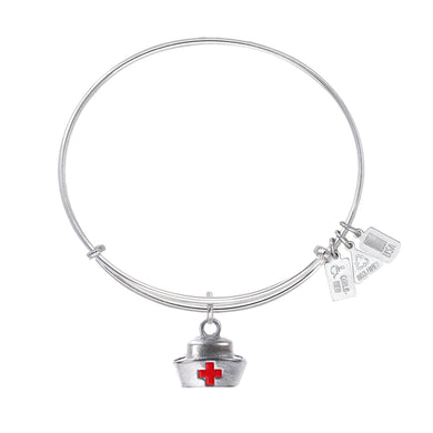Wind & Fire Nurse's Cap Enameled Charm Bangle