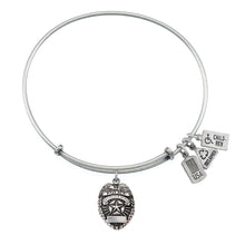 Load image into Gallery viewer, Wind & Fire Police Badge Charm Bangle
