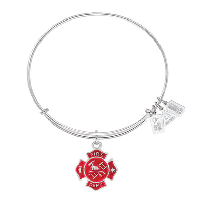 Wind & Fire Fire Shield Enameled Charm Bangle