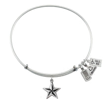Load image into Gallery viewer, Wind & Fire Nautical Star Charm Bangle