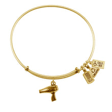Load image into Gallery viewer, Wind & Fire Hair Dryer Charm Bangle