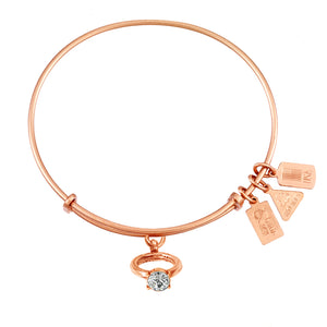 Wind & Fire Engagement Ring Charm Bangle