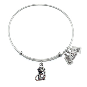 Wind & Fire Monkey Charm Bangle