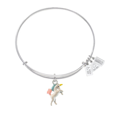 Wind & Fire Unicorn Enameled Charm Bangle