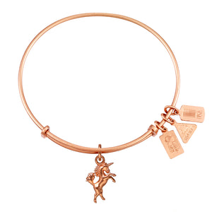 Wind & Fire Unicorn Charm Bangle