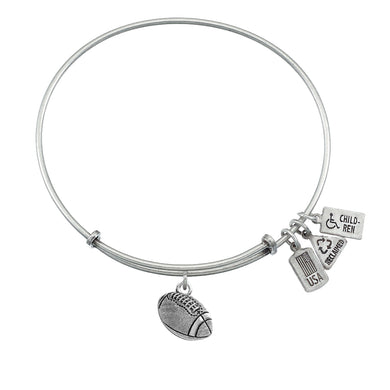 Wind & Fire Football Charm Bangle
