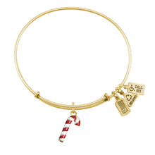 Load image into Gallery viewer, Wind & Fire Candy Cane (Enameled) Charm Bangle