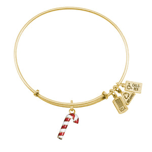 Wind & Fire Candy Cane (Enameled) Charm Bangle
