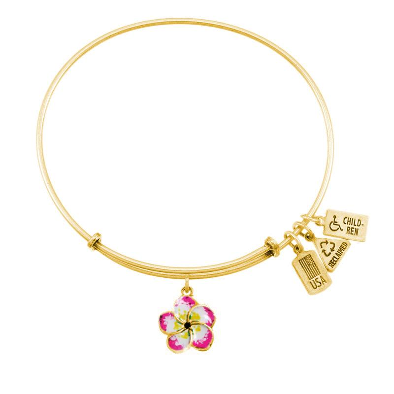 Wind & Fire Plumeria (Enameled) Charm Bangle