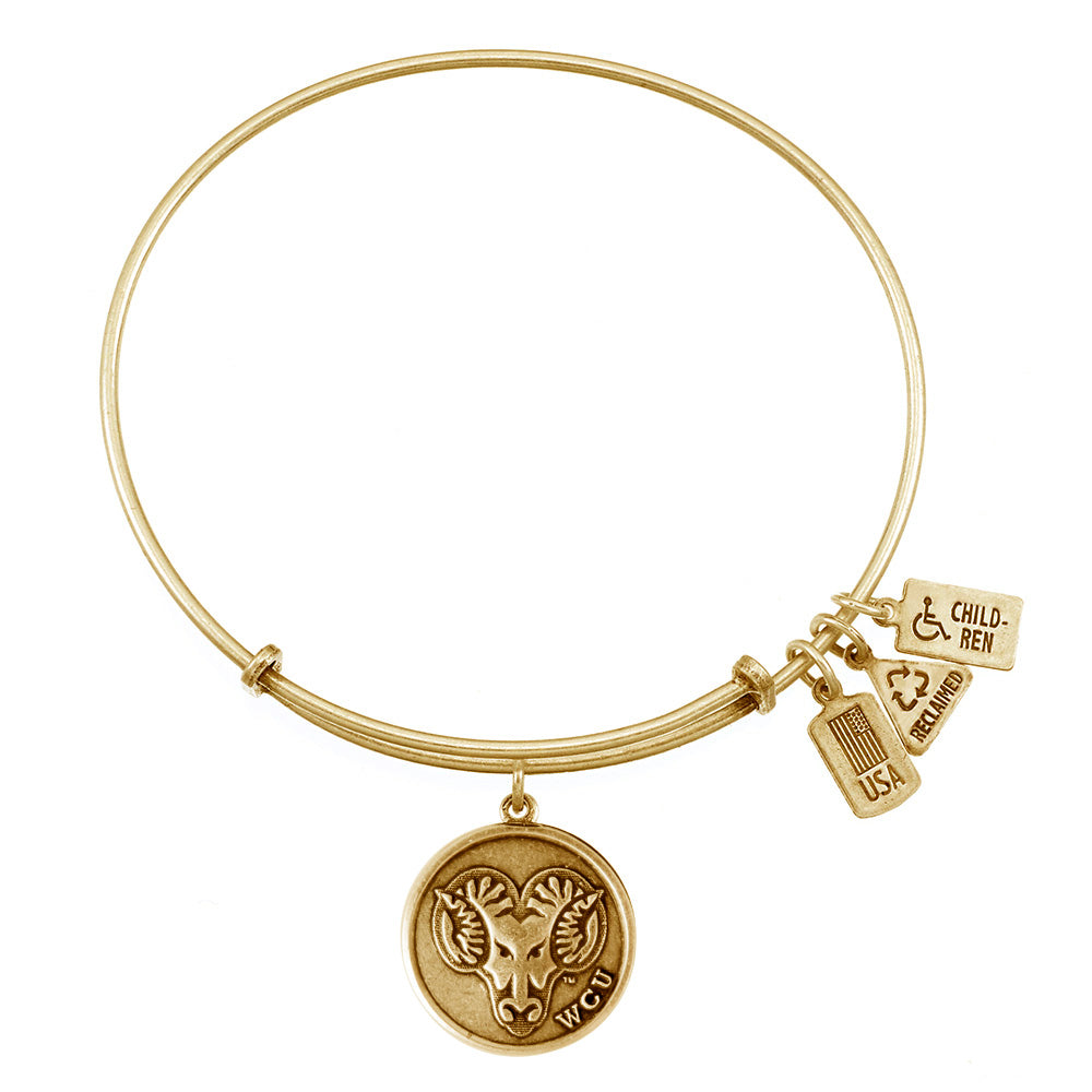 Wind & Fire WCU Golden Rams Charm Bangle