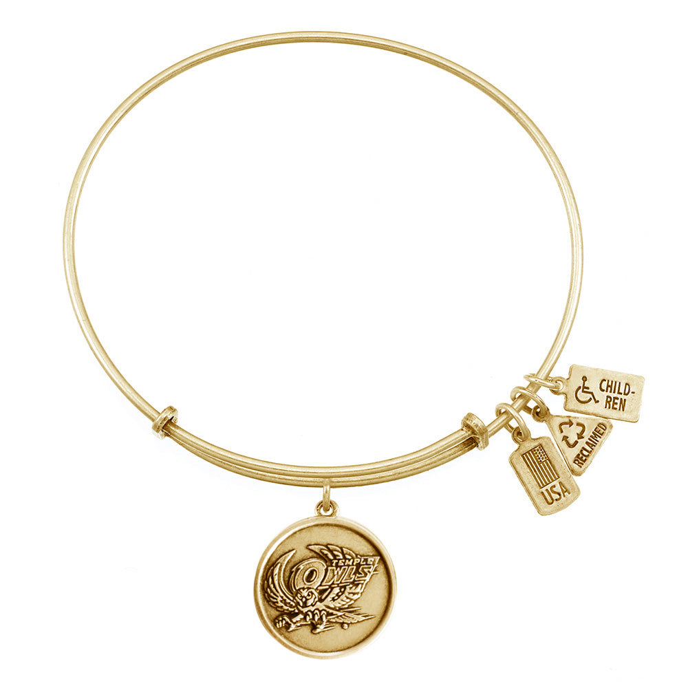 Wind & Fire Temple Owls Charm Bangle