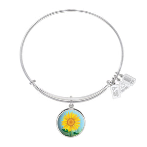 Wind & Fire Sunflower Charm Bangle