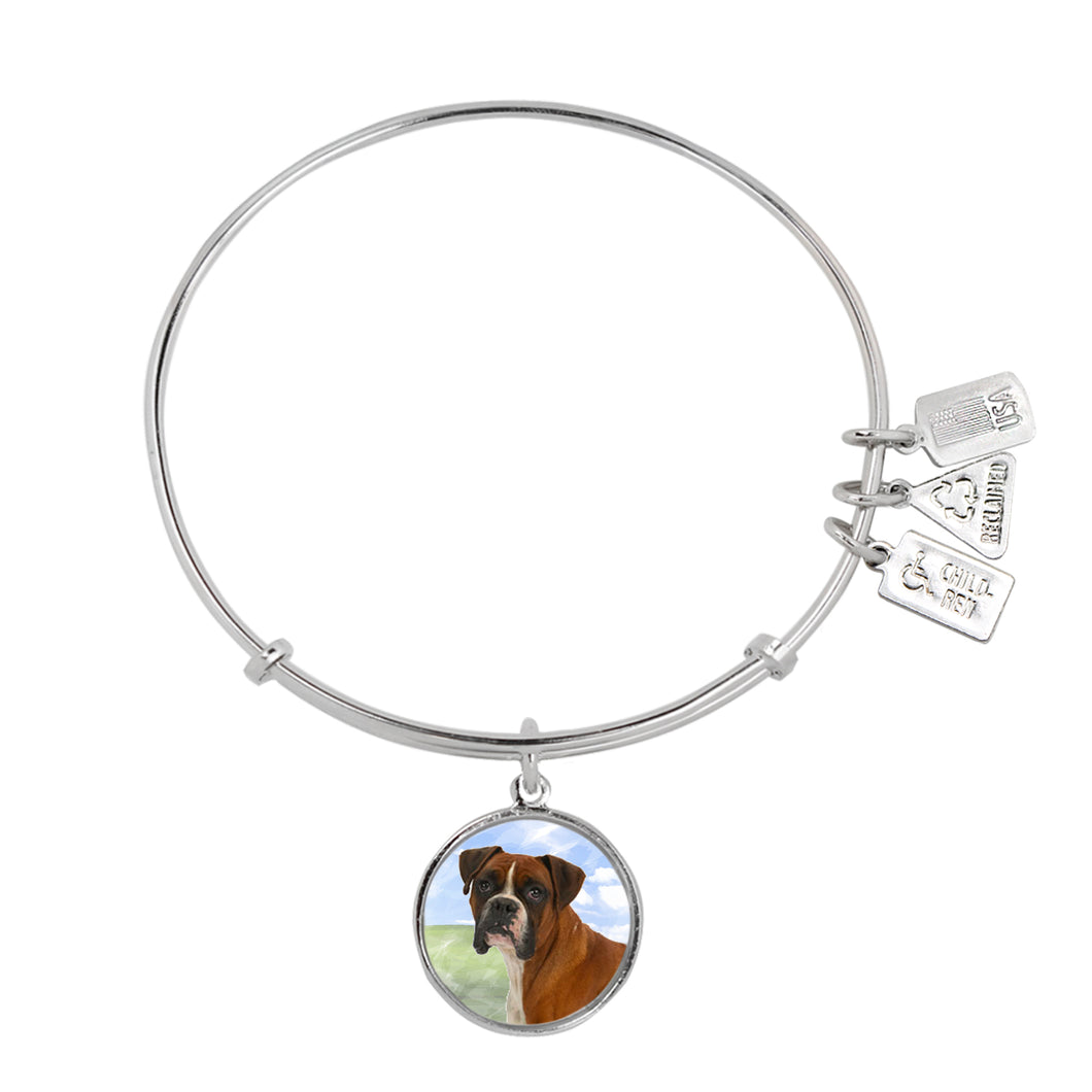 Wind & Fire Boxer Charm Bangle