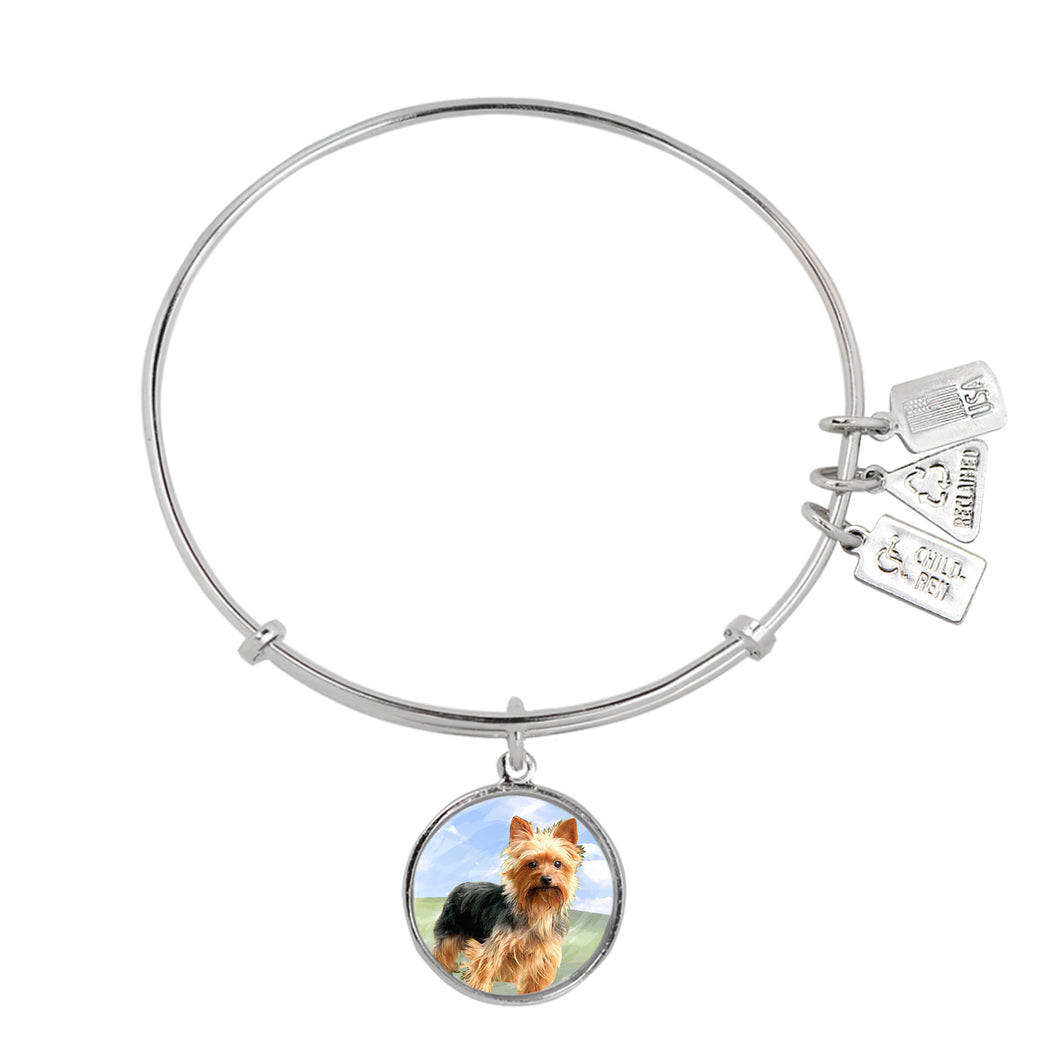 Wind & Fire Yorkshire Terrier Charm Bangle
