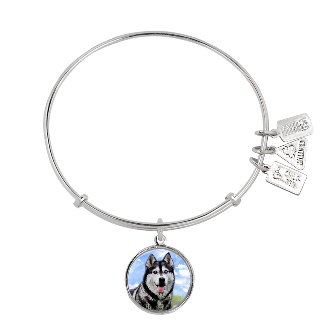 Wind & Fire Husky Charm Bangle