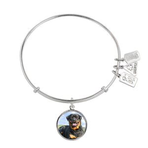Wind & Fire Rottweiler Charm Bangle