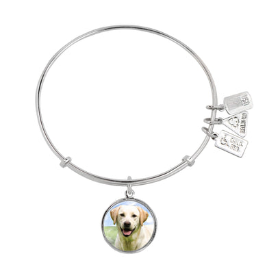 Wind & Fire Yellow Lab Charm Bangle