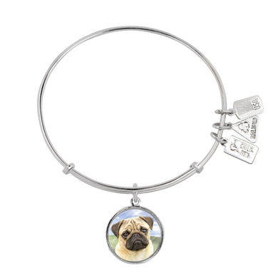 Wind & Fire Pug Charm Bangle