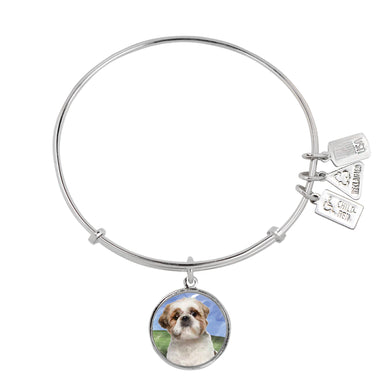 Wind & Fire Shih Tzu Charm Bangle