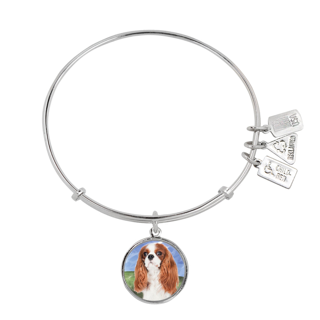 Wind & Fire King Charles Spaniel Charm Bangle