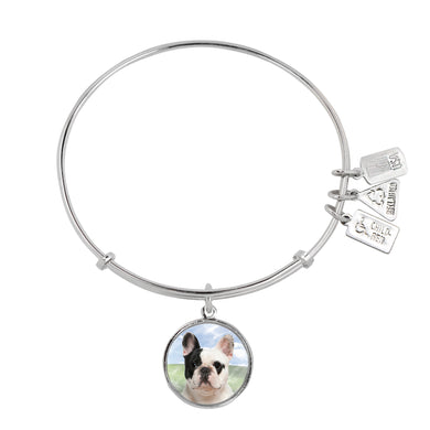 Wind & Fire French Bulldog Charm Bangle