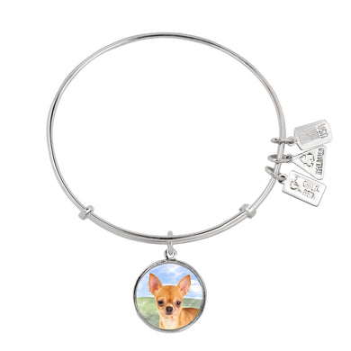 Wind & Fire Chihuahua Charm Bangle