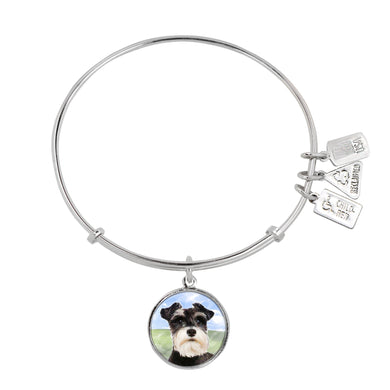 Wind & Fire Schnauzer Charm Bangle