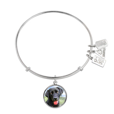 Wind & Fire Black Lab Charm Bangle