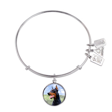 Wind & Fire Doberman Pinscher Charm Bangle