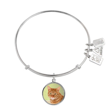 Wind & Fire Orange Cat Charm Bangle