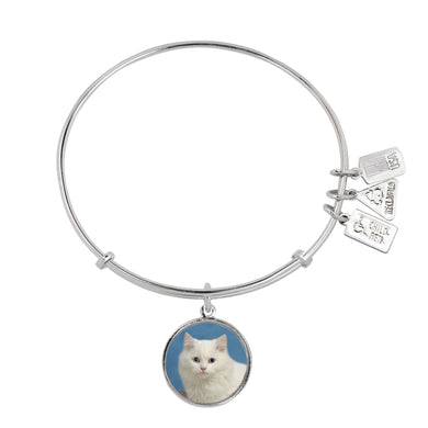 Wind & Fire Persian Cat Charm Bangle