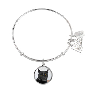 Wind & Fire Black Cat Charm Bangle