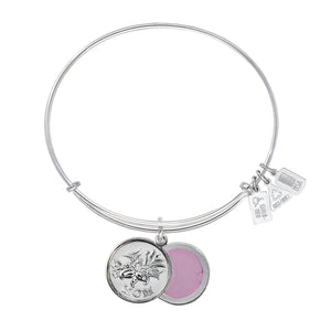 Wind & Fire Mom w/ Iris Slide Locket Charm Bangle