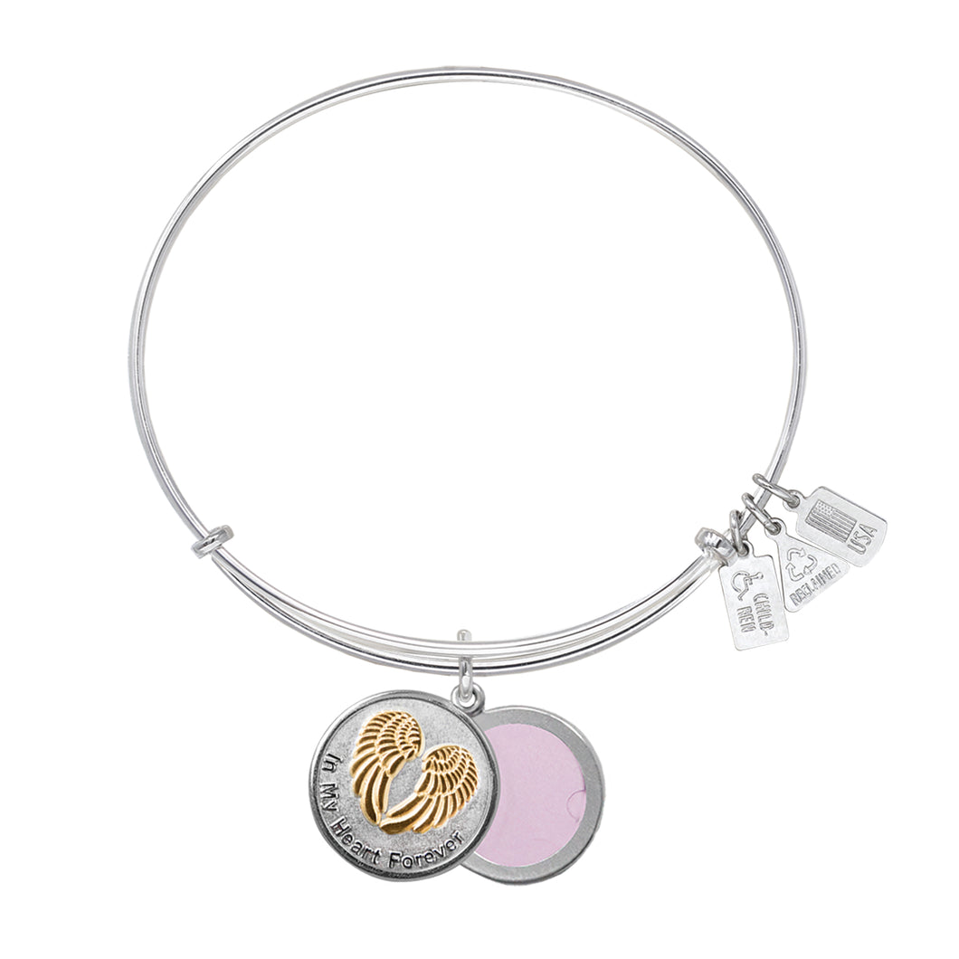 Wind & Fire In My Heart Forever Slide Locket Charm Bangle