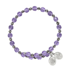 Load image into Gallery viewer, Wind & Fire Violet Crystal Wrap Bracelet