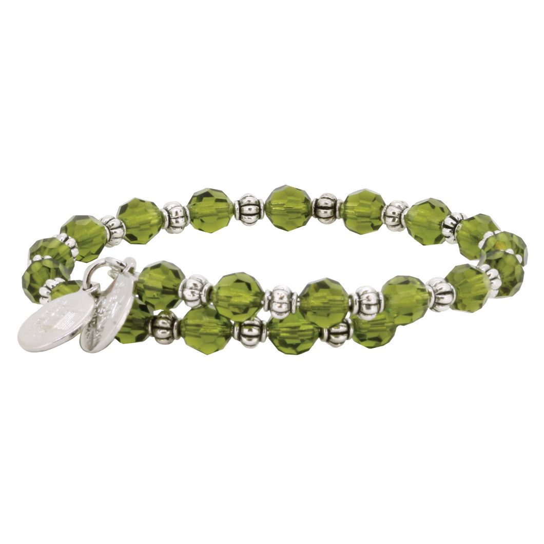 Wind & Fire Olivine Crystal Wrap Bracelet