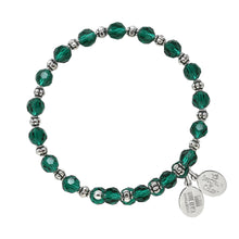 Load image into Gallery viewer, Wind & Fire Emerald Crystal Wrap Bracelet